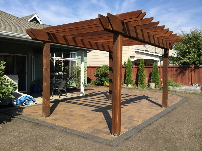 pergola and paver patio