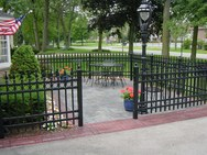 Iron Fence with Pavers