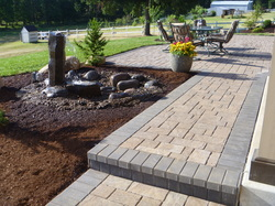 Landscape installation in Creswell Oregon