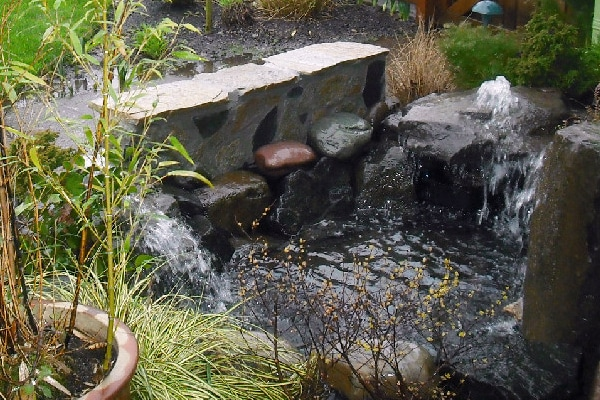 pondless bubbler, water feature, landscape design