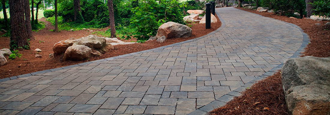Paver walkway Graham Landscape and Design