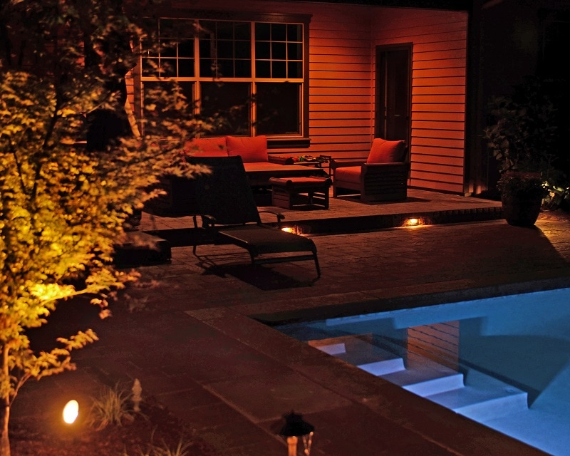 low voltage LED lighting, pool lighting, deck lighting