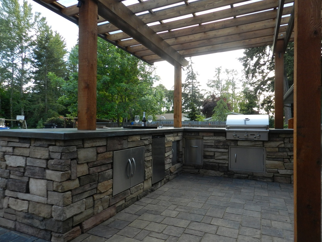 Outdoor Kitchen Graham Landscape & Design