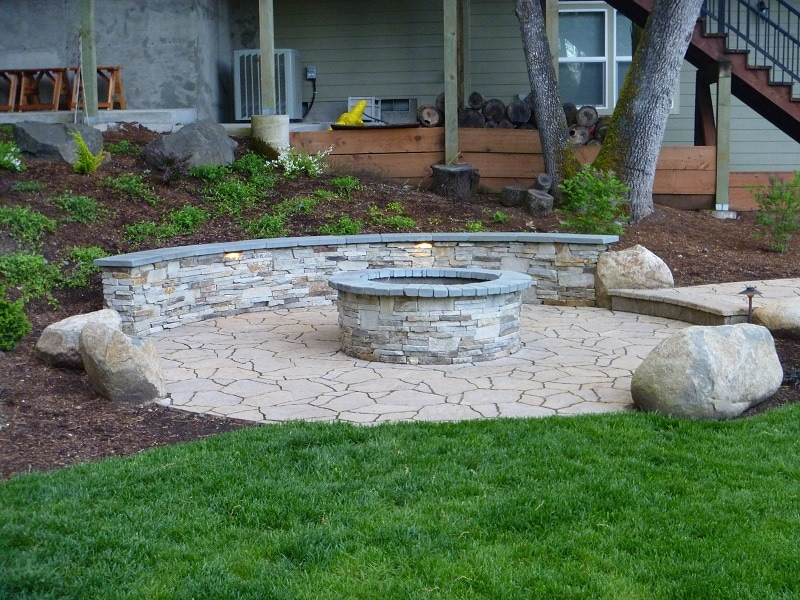 low voltage LED lighting, fire pit lighting, landscape lighting