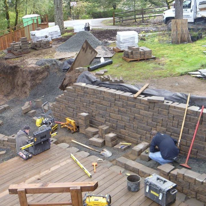 604c3fc2e131 Building a retaining wall. Landscape design sketches